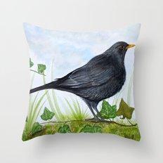 The Blackbird Throw Pillow