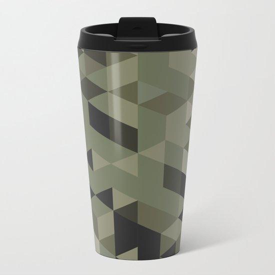 Isometric Camo Metal Travel Mug