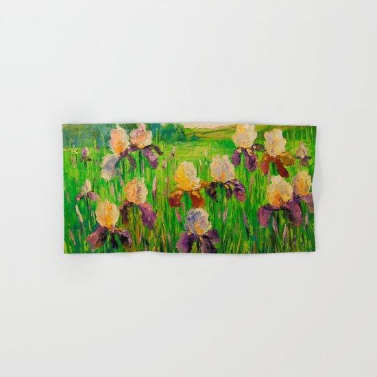 Irises Hand & Bath Towel