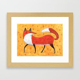 Sassy Little Fox Framed Art Print