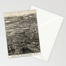 Aerial View of Kingston, New York (1875) Stationery Cards