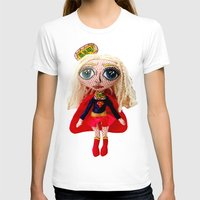 karu kara T-shirts featuring Kara Zoe-El ~ Supergirl by Chiara Venice Art Dolls