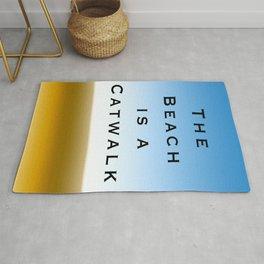 TheThe Beach is a Catwalk - Color Rug