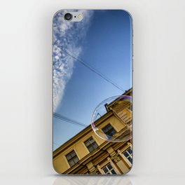Soap bubble in the sky iPhone Skin
