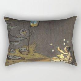 Bedtime Story for Seeds Rectangular Pillow