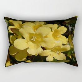 Yellow Carolina Jasmine Blossom Close Up Rectangular Pillow