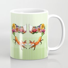 Fox Friends Sprouting Flowers Coffee Mug