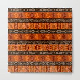 Ethnic african tribal pattern with Adinkra simbols. Metal Print