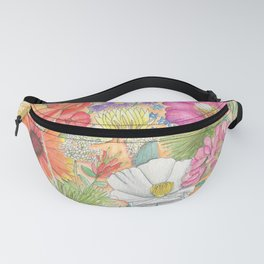 New Mexico | Floral Watercolor | State of New Mexico | Nature Travel Art | New Mexico Native Fanny Pack