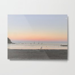 South of France sunset on a full moon Metal Print