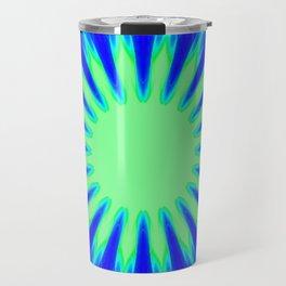Aqua Starburst Travel Mug