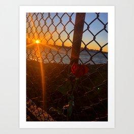 February Sunset at Bug Light (5) Art Print
