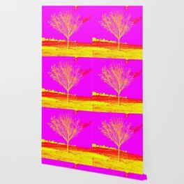 Pink Yellow tree Wallpaper