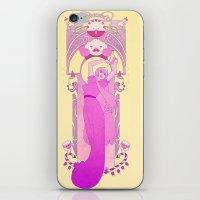 princess bubblegum iPhone & iPod Skins featuring Princess Bubblegum by NicoleGrahamART