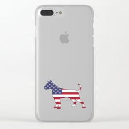 "Boxer ""American Flag"" Clear iPhone Case"