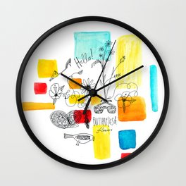 Hello, butterfly! Wall Clock