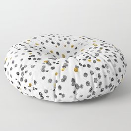 Dots Gold Black and White Floor Pillow