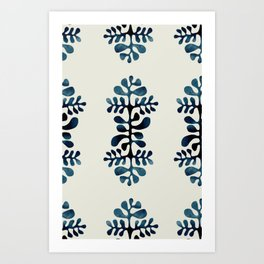blue shibori Art Print