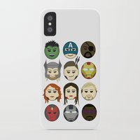 avenger iPhone & iPod Cases featuring Avenger Emojis :) by jozi.art