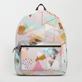 Abstract geometric textures and marble Backpack