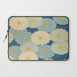 Shin-Bijutsukai – Japanese Design Blue Floral Pattern Laptop Sleeve