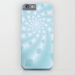 Tess Fractal in Frozen Blue iPhone Case