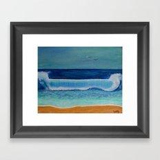 Beach Wave Framed Art Print