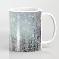 snow Mugs featuring Snow by Pure Nature Photos
