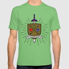 ADVENTURE! LARGE Mens Fitted Tee Grass