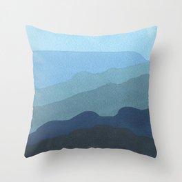 Landscape Blue Throw Pillow