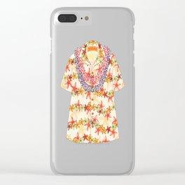 Plumeria Lei Shirt Clear iPhone Case