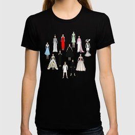 Audrey Fashion Whimsical Layout T-shirt