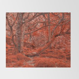 Ruby Moss Forest Throw Blanket