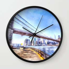Brooklyn Bridge Art Wall Clock