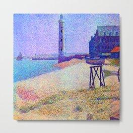 Georges Seurat Lighthouse at Honfleur Metal Print