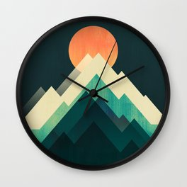 Ablaze on cold mountain Wall Clock