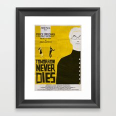 Tmorrow Never Dies Framed Art Print