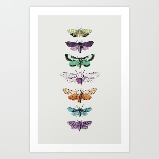 Techno-Moth Collection Art Print