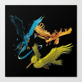 The Three Legendary Birds Canvas Print