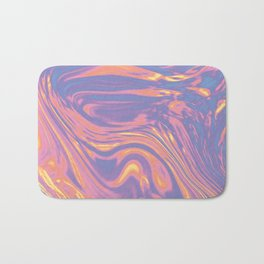 holographic sunset marble Bath Mat