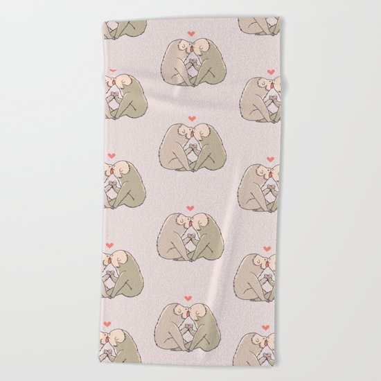 Sloth Kisses Beach Towel