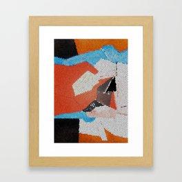 Cubist Mosaic Framed Art Print