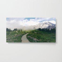 Mt Rainier Path Metal Print