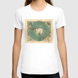 Map of Antarctica from 1912 (Süd-Polar-Karte) T-shirt