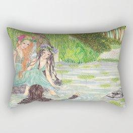 The pond Rectangular Pillow