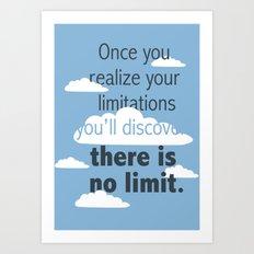 No Limit Art Print