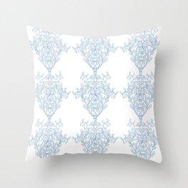 Baroque Sky Blue Vines Throw Pillow