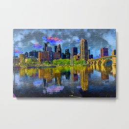 Altered Minneapolis Metal Print