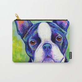 Effervescent - Colorful Boston Terrier Dog Carry-All Pouch