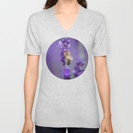 Lavender Bee Unisex V-Neck